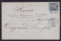France        .    Yvert    .    4 Sur Lettre   (2 Scans)     .         O      .      Oblitéré - 1849-1850 Ceres