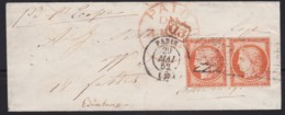 France        .    Yvert    .   5 Paire  Sur Lettre   (2 Scans)     .         O      .      Oblitéré - 1849-1850 Ceres