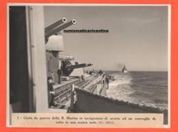 Regia Marina Navi Da Guerra In Navigazione Marina Militare Italia Navi Navir Schips Old Photo - Guerre, Militaire