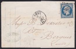 France        .    Yvert    .    10   Sur Lettre   (2 Scans)     .         O      .      Oblitéré - 1852 Louis-Napoleon