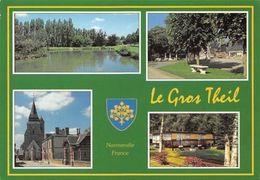 France La Gros Theil, Le Plan D'eau, La Plage De L'Eglise, Camping De Salverte - Frankrijk