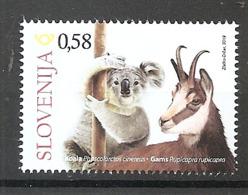 SLOVENIA  2019,SLOVENES IN AUSTRALIA,FAUNA, WILD ANIMALS,KOALA,CHAMOIS,MNH - Slowenien