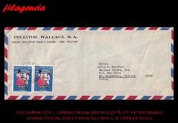 AMERICA. COLOMBIA. ENTEROS POSTALES. SOBRE CIRCULADO EMPRESAS 1971. BOGOTÁ-ST. PETERSBURG. POLLITOS WALLACE S.A. - Colombia