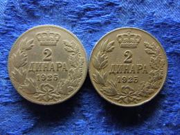 YUGOSLAVIA 2 DENARA 1925b, 1925p, KM8 - Joegoslavië