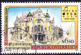 Österreich Austria Autriche - 100 Jahre Volksoper Wien (MiNr: 2263) 1998 - Gest Used Obl - 1945-.... 2nd Republic
