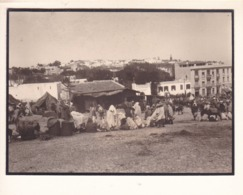 TANGER Maroc  Le Grand SOKKO  Avril 1909 Photo Amateur Format Environ 7,5 X 5 Cm - Orte