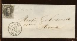 10c  Avec Voisin Sur Lettre Ø LENS. 10 Fev 1858 - 1851-1857 Medallions (6/8)