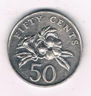 50 CENTS 1995 SINGAPORE /8525/ - Singapur