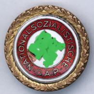 R! Selten  Goldenes Parteiabzeichen  NSDAP  GPA 30mm Deschler Mit Nummer, Stärker Getragen    2. WK WW   100% Original ! - Germany