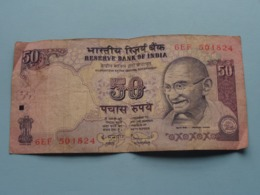 50 ( Fifty ) RUPEES : 6EF 50J824 ( Reserve Bank Of India ) ! - Inde