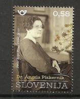 SLOVENIA  2019,SLOVENE FEMALE,SCIENTISTS,ANGELA PISKERNIK,MNH - Slowenien