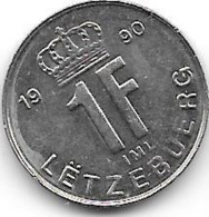 LUXEMBOURG - 1 Franc 1990 - Luxembourg