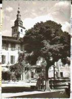 CONFLANS 1958 - Vue Peu Courante Animée Sur La Grand Place Et La Fontaine 2 Enfants - Frankreich