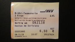 Germany - Ticket HVV Hamburg - 9-Uhr-Tageskarte Für Busse / U-Bahnen / Hafenfähren - Titres De Transport
