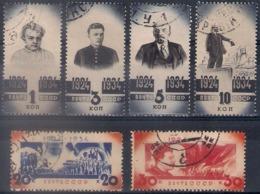 Russia 1934, Michel Nr 488-93, Used - 1923-1991 USSR