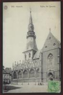 Postkaart Van HASSELT ; EGLISE ST. QUENTIN Met Frankering KONING ALBERT I ; Staat Zie 2 Scans ! - Hasselt