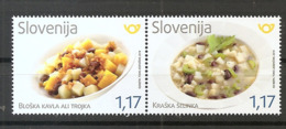 SLOVENIA  2019,GASTRONOMY,KAVLA OR TROJKA FROM THE BLOKE,SELINKA FROM THE KARST,MNH - Ernährung