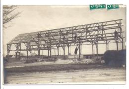 Carte Photo, Construction D'une Charpente Bois - Postkaarten