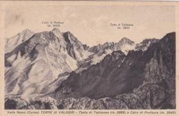 CARTOLINA - CUNEO - VALLE GESSO - TERME DI VALDIERI - TESTA DITABLASSES M. 2866 E CAIRE DI PREFOUNS M. 2840 - Cuneo