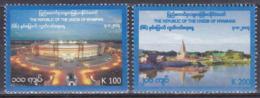 Myanmar Birma Burma 2014 Geschichte History Unabhängigkeit Independence Bauwerke Stadion Flüsse Pagoden, Mi. 418-9 ** - Myanmar (Birma 1948-...)