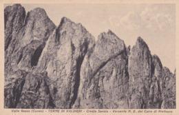 CARTOLINA - CUNEO - VALLE GESSO - TERME DI VALDIERI - CRESTA SAVOIA - VERSANTE N. E. CAIRE DI PREFOUNS - Cuneo