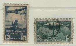 SUPERBE TRAVERSEE ATLANTIQUE N°320 & 321 Oblitéré Cachet à Date Cote + 160 Euro - Used Stamps
