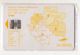 GABON Ref MV Cards : GAB-27 MAP OF GABON 25 U - Gabun