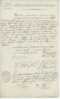 Armée Du Rhin Hôpital Militaire De Colmar An 6 - 29.11.1797 ' Zimmerbach Réforme' Avec Empreinte Du Sceau - Documents Historiques