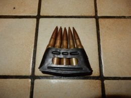 Clip De 8mm Lebel Pour Berthier Armée Francaise Datées 1940 - Decorative Weapons