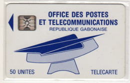 GABON Ref MV Cards : GAB-14 BLUE LOGO REC CN 10 U - Gabun
