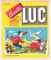 Buvard Biscottes LUC Chateauroux  Chanson Dansons La Capucine  19 - Biscottes