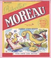 Buvard Biscottes MOREAU Tours Nos Amis Les Bêtes Marins D'eau Douce Canards 19 - Biscottes