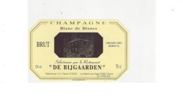 ETIQUETTE  CHAMPAGNE RESTAURANT DE BIJGAARDEN PAR P PETERS   LE MESNIL SUR OGER  ****  RARE  A  SAISIR  ***** - Champagne