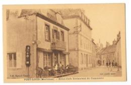 PORT LOUIS (56) Façade Hotel Café Restaurant Du Commerce Animation - Port Louis