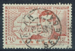 Senegal (French Colony), 90c., René Caillé, French Explorer Of Timbuktu, 1939, VFU nice Postmark - Used Stamps