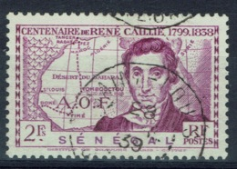 Senegal (French Colony), 2f., René Caillé, French Explorer Of Timbuktu, 1939, VFU nice Postmark - Senegal (1887-1944)