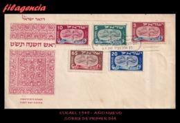 PIEZAS. ISRAEL SPD-FDC. 1948 NUEVO AÑO HEBREO - FDC