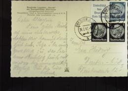 DR: Fern-Karte Mit Zusdr. Aus H-Blatt 98 Vom 26.7.41 Aus Dresden Auf AK Vom Berghotel Lugsteinbaude Georgenfeld Knr: W89 - Briefe U. Dokumente