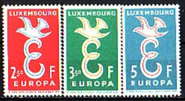 EUROPA-CEPT - Luxemburg - 1958 - Anne Complet - 3v** - Europa-CEPT