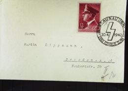 DR: Fern-Brief Mit 12+38 Pf Hitler Zum 53. Geburtstag Mit SoSt. Braunau (Inn) 20.4.1942 Knr: 813 - Briefe U. Dokumente