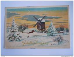 Gelukkig Nieuwjaar Winter Landschap Molen Moulin Paysage Hivernal Gelopen 1948 België Edit Prima 14 - Neujahr
