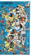 CARD JACOVITTI SARDEGNA UMORISTICA RICCA DI CARICATURE FIRMA JAC 59 LISCA DI PESCE-FP14,8X 8,8-N-2- 0882-29210 - Illustrateurs & Photographes