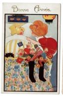 Carte Illustrée Par H. Cowham - Bonne Année - Fillettes - Jouets - Inter-Art Co. Comique Series N° 4028 - 2 Scans - Illustrateurs & Photographes