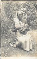 AFRIQUE NOIRE ETHNOLOGIE Carte Photo Femme Et Enfant - Afrique
