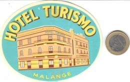 ETIQUETA DE HOTEL  -   HOTEL  TURISMO  -MALANGE -FRANCIA - Etiquetas De Hotel