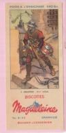 Buvard Biscottes MAGDELEINE Arbalétrier 5 19 - Biscottes
