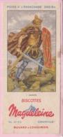 Buvard Biscottes MAGDELEINE Gaulois 1 19 - Biscottes