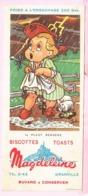 Buvard Biscottes MAGDELEINE Il Pleut Bergère  19 - Biscottes