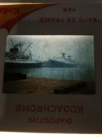 22 Diapos Du PAQUEBOT FRANCE  En 1962 Au Départ Du HAVRE - Le Havre