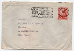 1955 YUGOSLAVIA, SLOVENIA, LJUBLJANA TO PLANICA, STATIONERY COVER, PROPAGANDA FLAM - Entiers Postaux